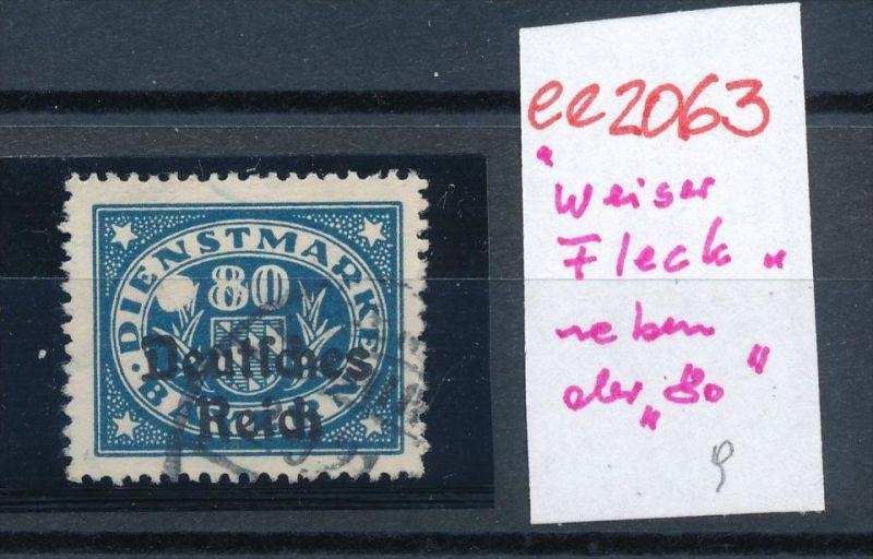 D.-Reich Abart weiser Fleck neben der 80  o  (ee2063  ) siehe scan