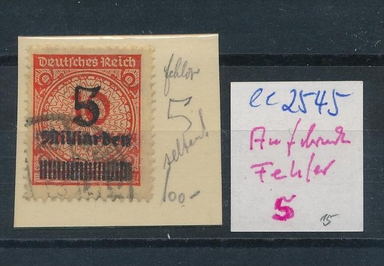 D.-Reich Nr.  Aufdruck  -Fehler  o (ee2545 ) siehe scan