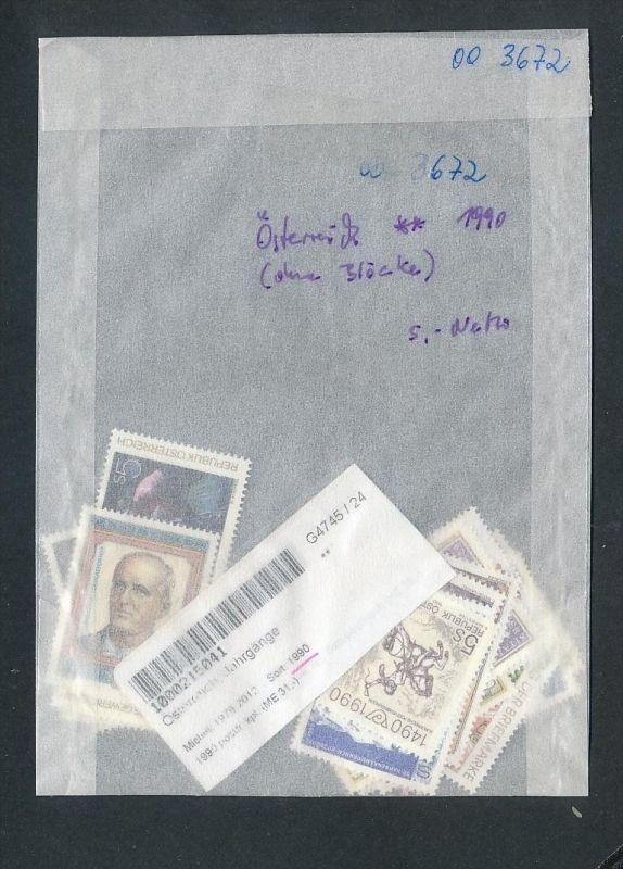 Österreich Jahr 1990  ** ( oo3672 ) siehe scan !