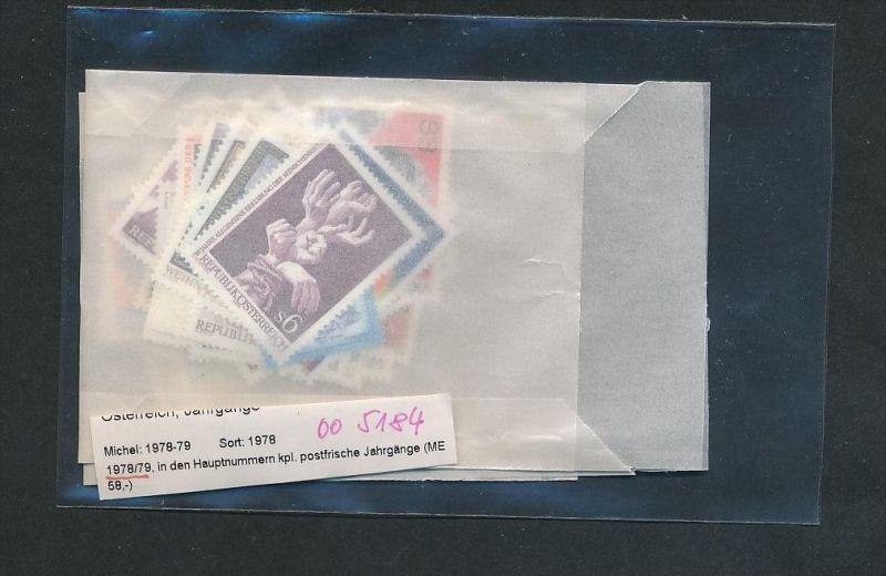 Österreich Jahr  1978-79 **  (oo5184  ) siehe scan !