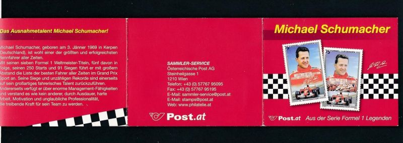Österreich Schumacher Heft   (oo5192  ) siehe scan !