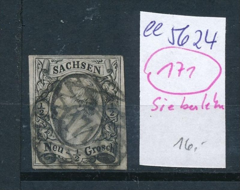 Sachsen -Stempel...   (  ee5624  ) siehe scan....!