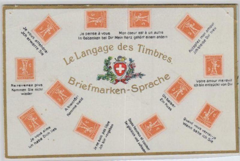 Motiv-Briefmarken-Sprache   div. - schöne alte Karte ....   (ka5719  ) siehe scan