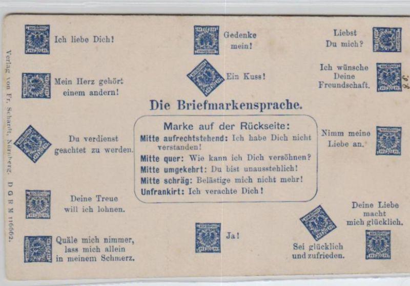 Motiv-Briefmarken-Sprache   div. - schöne alte Karte ....   (ka5727  ) siehe scan