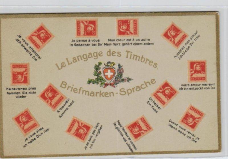 Motiv-Briefmarken-Sprache   div. - schöne alte Karte ....   (ka5737  ) siehe scan