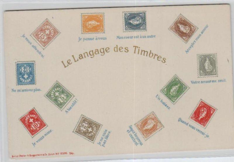 Motiv-Briefmarken-Sprache   div. - schöne alte Karte ....   (ka5747  ) siehe scan