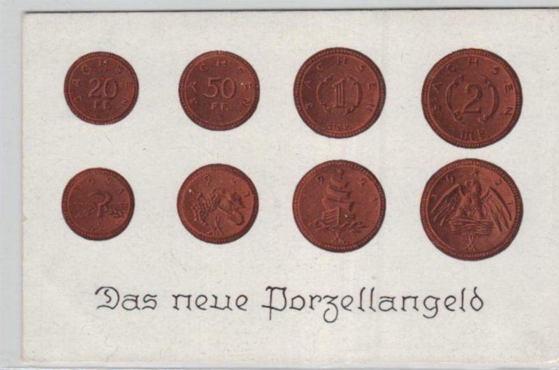 Motiv-Münzen/Geld  - schöne alte Karte ....   (ka5425  ) siehe scan