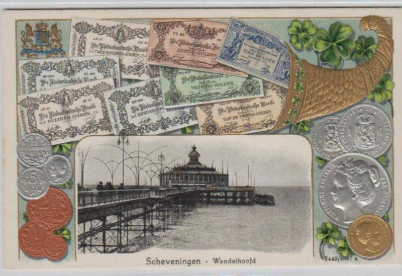 Motiv-Münzen/Geld  - schöne alte Karte ....   (ka5419  ) siehe scan