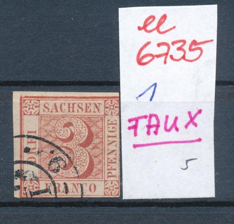 Sachsen  Nr. 1 FAUX/Falsch !    (ee6735  ) siehe scan