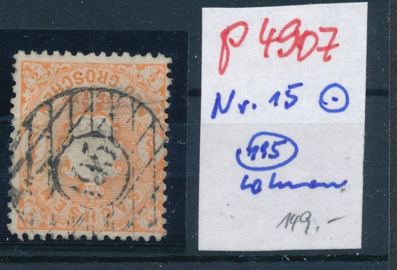Sachsen Nr. 15 Stempel 195     (p4907  ) siehe scan
