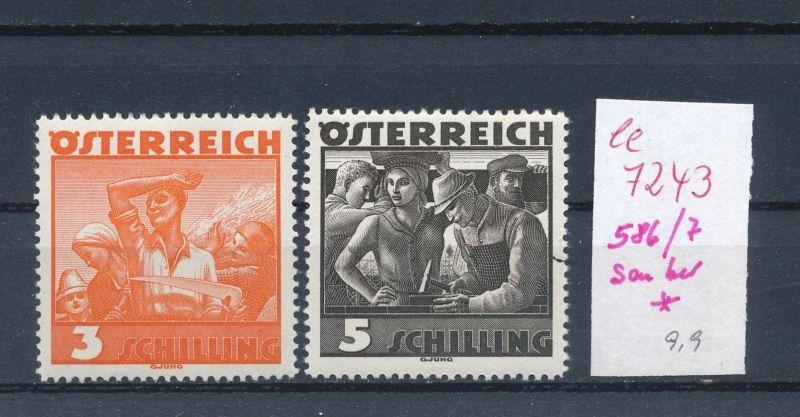 Österreich  Nr.  586-7* (ee7243  ) siehe scan 0