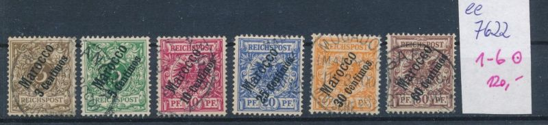D.-Post Marokko  Nr. 1-6 o  (ee7622  ) siehe scan