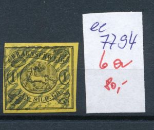 Braunschweig Nr.  6 a  o     (ee7794  ) siehe scan vergrößert  !