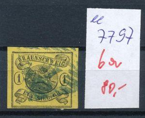 Braunschweig Nr.  6 a  o     (ee7797  ) siehe scan vergrößert  !