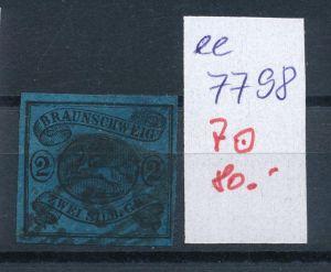 Braunschweig Nr.  7  o     (ee7798  ) siehe scan vergrößert  !