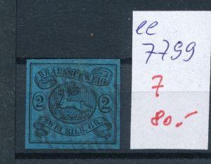 Braunschweig Nr.  7  o     (ee7799  ) siehe scan vergrößert  !
