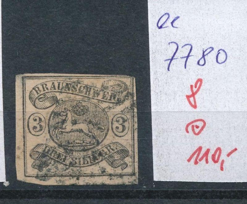 Braunschweig Nr.  8   o     (ee7780  ) siehe scan vergrößert  !