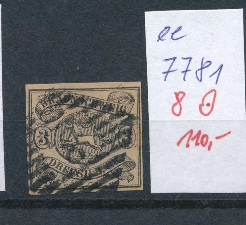 Braunschweig Nr.  8   o     (ee7781  ) siehe scan vergrößert  !