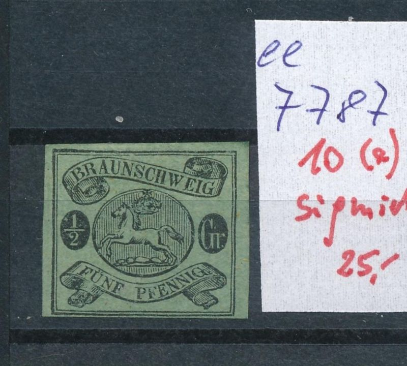 Braunschweig Nr.  10        (ee7787  ) siehe scan vergrößert  !