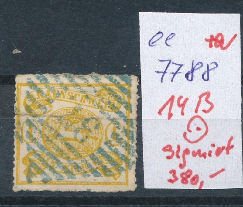 Braunschweig Nr.  14 B signiert   o        (ee7788  ) siehe scan vergrößert  !