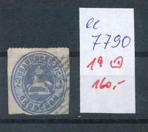 Braunschweig Nr.  19   o        (ee7790  ) siehe scan vergrößert  !