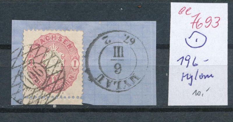 Sachsen - Stempel  196   (ee7693  ) siehe scan vergrößert !