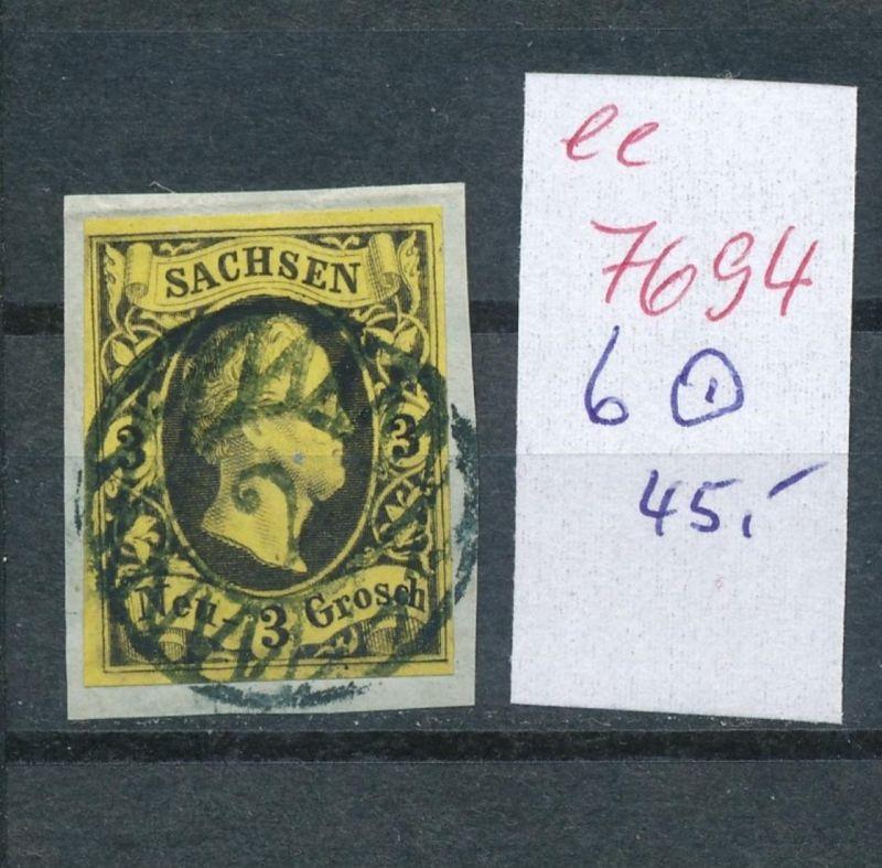 Sachsen -Nr. 6   - Stempel    (ee7694  ) siehe scan vergrößert !