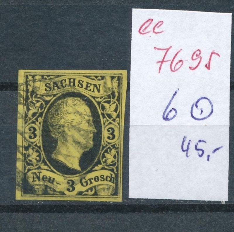 Sachsen -Nr. 6   - Stempel    (ee7695  ) siehe scan vergrößert !