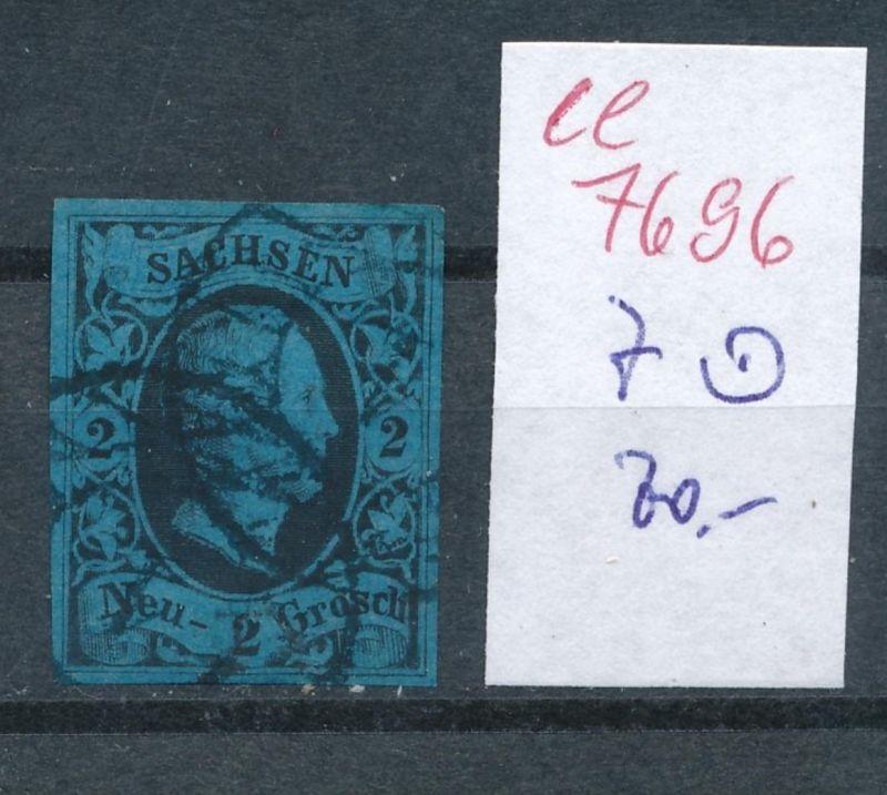 Sachsen -Nr. 7   - Stempel    (ee7696  ) siehe scan vergrößert !
