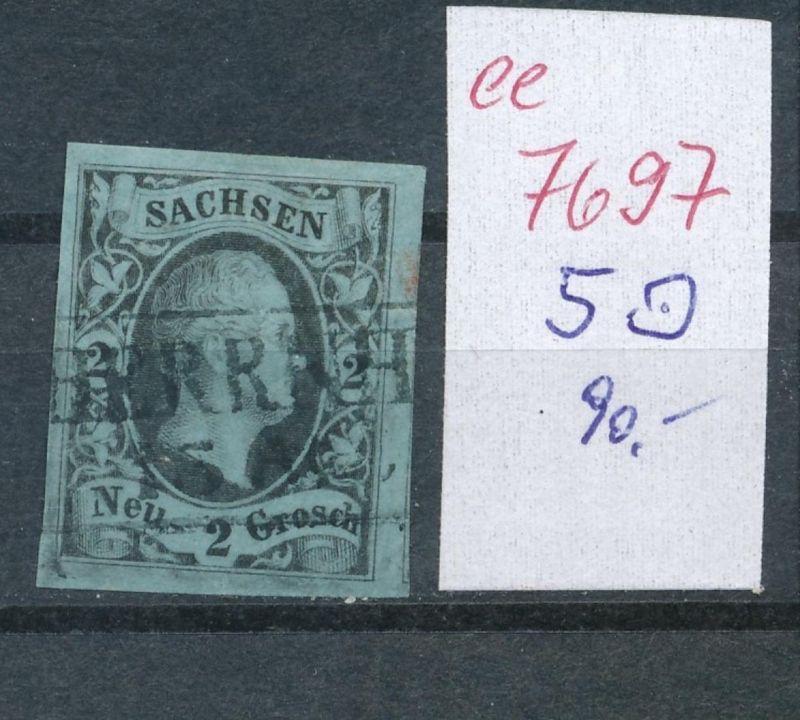 Sachsen -Nr. 5    - Stempel    (ee7697  ) siehe scan vergrößert !