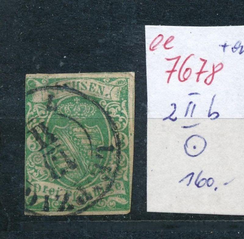 Sachsen -Nr.  2 II b  o    (ee7678  ) siehe scan vergrößert !
