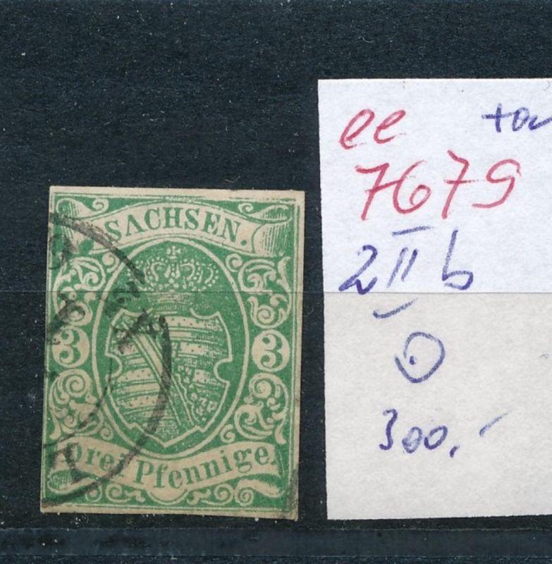 Sachsen -Nr.  2 II   o    (ee7679  ) siehe scan vergrößert !