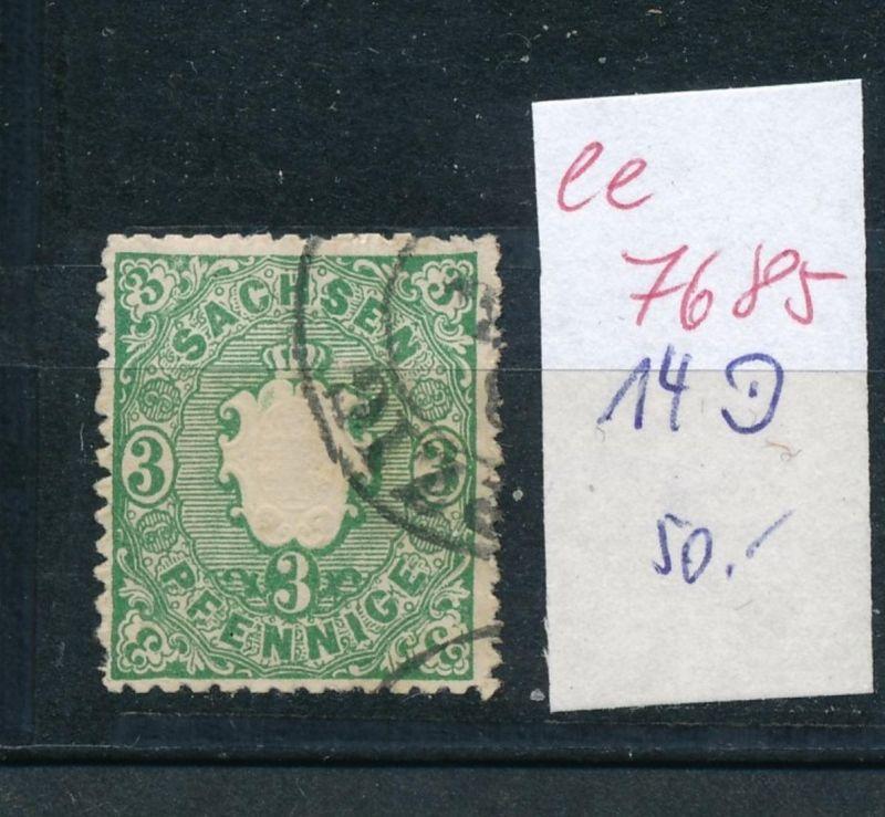 Sachsen -Nr.  14 o    (ee7685  ) siehe scan vergrößert !