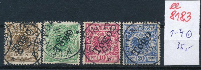 Togo Nr.  1-4  o     (ee8183  ) siehe scan