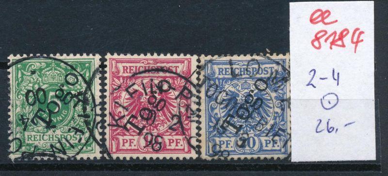 Togo Nr.  2-4  o     (ee8184  ) siehe scan
