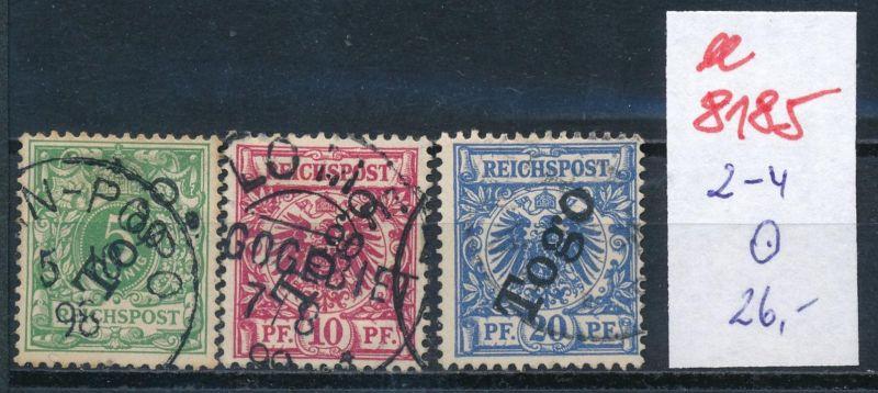 Togo Nr.  2-4  o     (ee8185  ) siehe scan