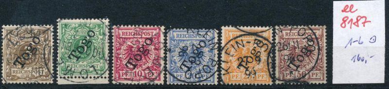 Togo Nr.  1-6  o     (ee8187  ) siehe scan