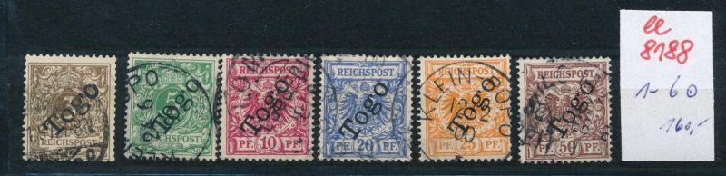 Togo Nr.  1-6  o     (ee8188  ) siehe scan
