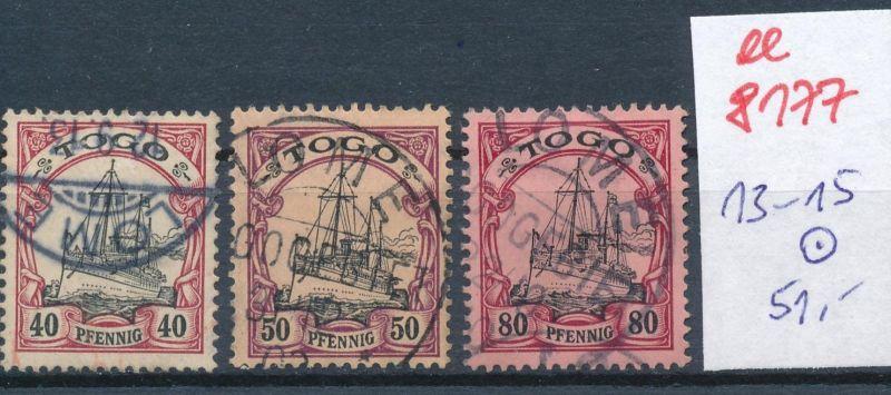 Togo Nr.  13-15  o     (ee8177  ) siehe scan