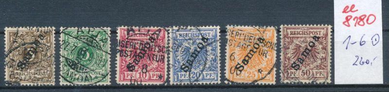 Samoa Nr.  1-6   o     (ee8180  ) siehe scan
