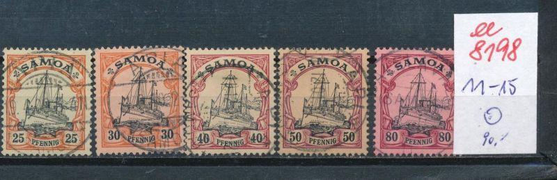 Samoa Nr.  11-15   o      (ee8198  ) siehe scan