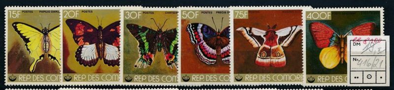 Schmetterlinge Komoren  ** Serie    (ee8100  ) siehe scan