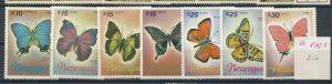 Schmetterlinge -Nicaragua   ** Serie    (ee8101  ) siehe scan