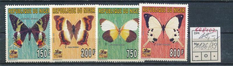 Schmetterlinge -Niger   ** Serie    (ee8102  ) siehe scan