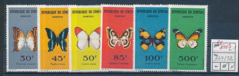 Schmetterlinge -Senegal   ** Serie    (ee8103  ) siehe scan