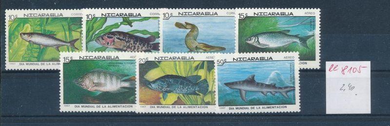 Fische-Nicaragua    ** Serie    (ee8105  ) siehe scan