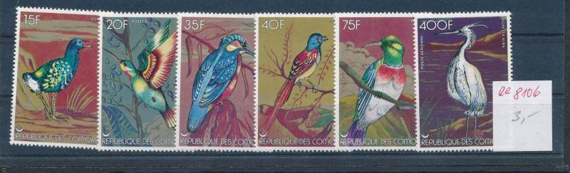 Vögel-Komoren     ** Serie    (ee8106  ) siehe scan