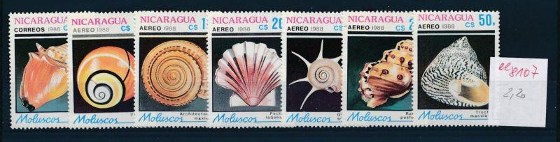 Muschel-Nicaragua     ** Serie    (ee8107  ) siehe scan