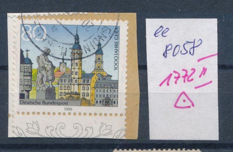 BRD Nr. 1772 II   o PLF    (ee8058  ) siehe scan