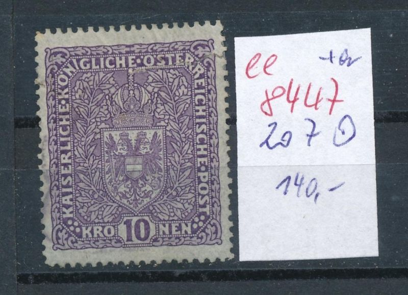 Österreich Nr.  207   o    (ee8447  ) siehe scan